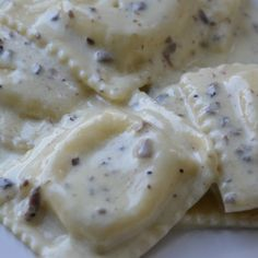 Ravioli in Truffle Cream Sauce