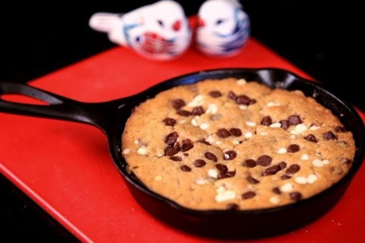 Fudgy Chocolate Chip Skillet Cookie