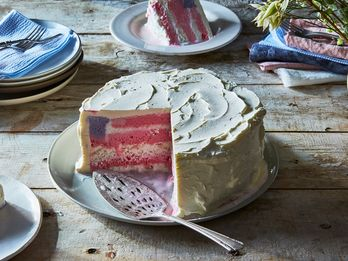 How To Make An (Ice Cream!) Flag Cake