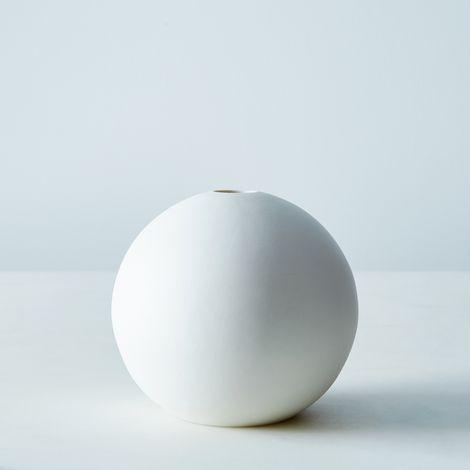 Spherical Ceramic Bud Vase