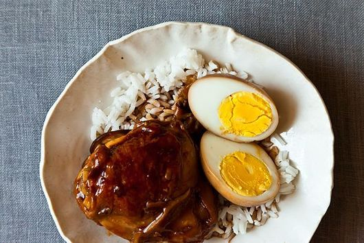 Dinner Tonight: Soy Saucy Chicken and Eggs + Spicy Cucumber Salad