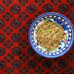 Lentils Afghan style with coconut milk