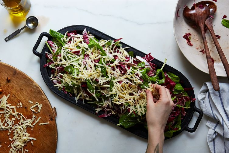 Joshua McFadden's Bitter Greens Salad with Melted Cheese