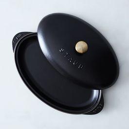 Staub Cast Iron Covered Fish Pan