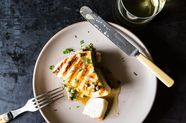 Grilled Swordfish with Lemon and Caper Sauce