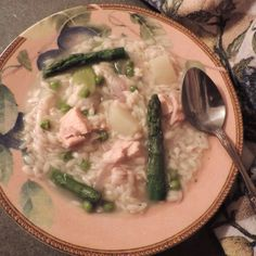 Chicken-Asparagus Soup w/Orzo