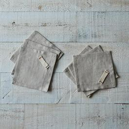 Heirloomed Linen Cocktail Napkins (Set of 6)