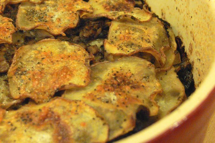 Pancetta And Porcini Potato Gratin Recipe — Dishmaps