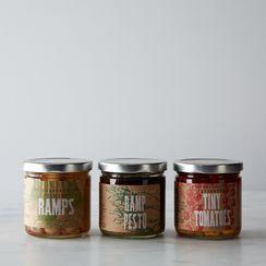 Ramp Pesto, Pickled Ramps & Tiny Tomatoes Set