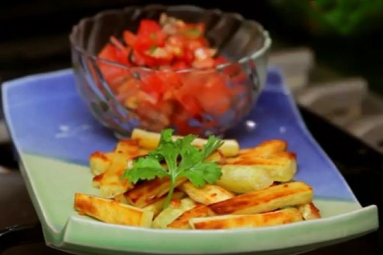 Healthy Eating: Baked Sweet Potato Chips