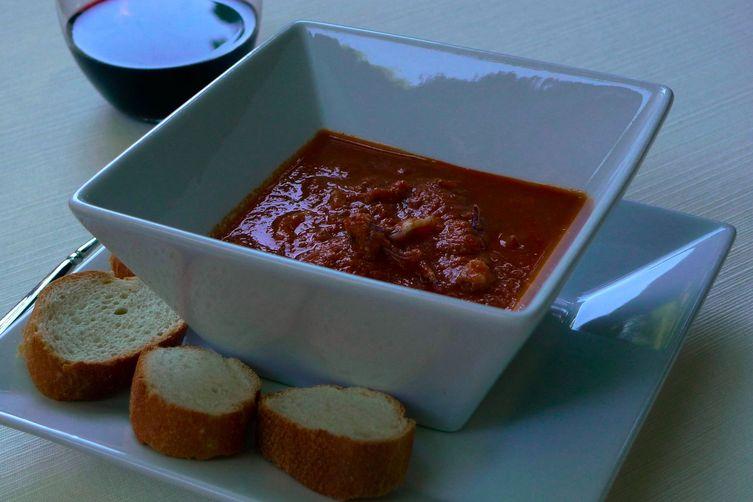 Calamari in a Zingy Tomato Sauce