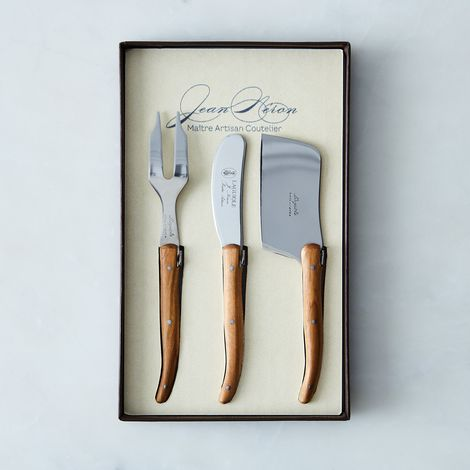 Olivewood Laguiole Cheese Knives (Set of 3)