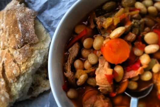 Comforting Borlotti Beans with pork belly and smoked paprika