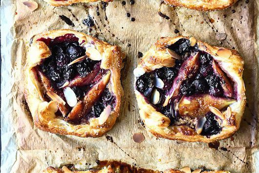 Blueberry Fig and Almond Tarts