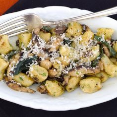 Handmade Ricotta Gnocchi with Shiitake Mushrooms in Brown Butter Sage Sauce