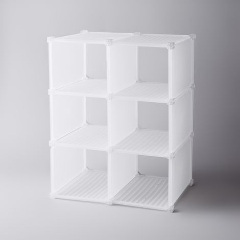 Modular 6-Grid Shoe Shelf