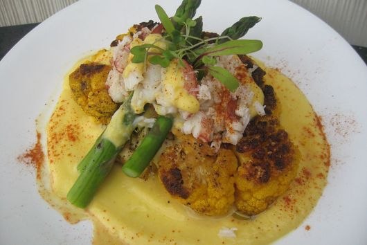 "Cauliflower ""Steak Oscar""."