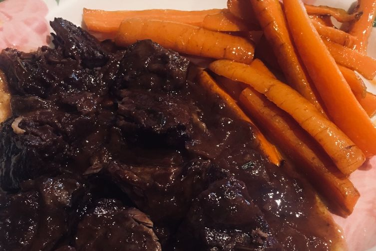 Beef Bourguignon (Pinot Noir) with honey glazed carrots