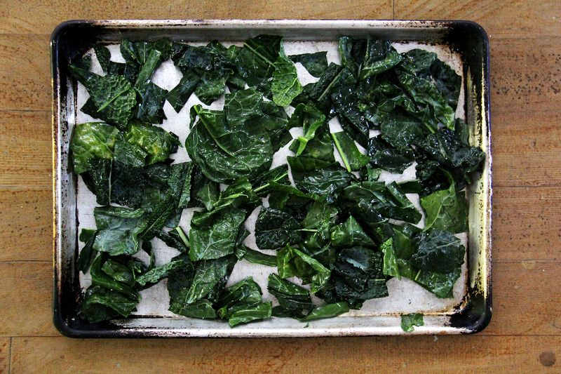 Make kale chips at home.
