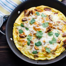 Andouille Sweet Potato Frittata