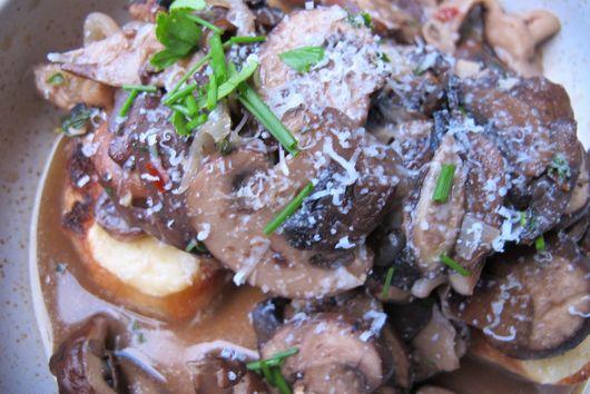 Mushroom Ragù on Gruyère Toast