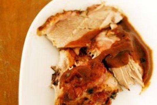 Slow Roasted Pork Shoulder with Pear Cider
