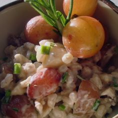 Grape and Brie Barley Salad
