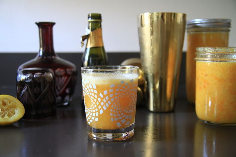 Candied Kumquat Whiskey Sours