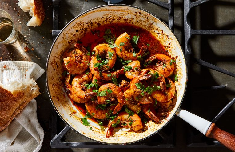 Spicy, Buttery Shrimp in Moments