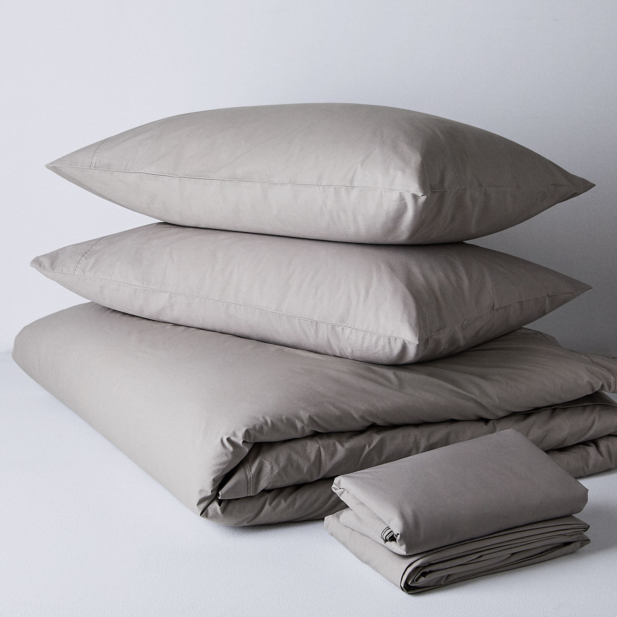 Get The Alterra Pure Organic Percale Duvet Cover Pebble Grey Queen Duvet Traditionalist Sheet Set From Food52 Now Accuweather Shop