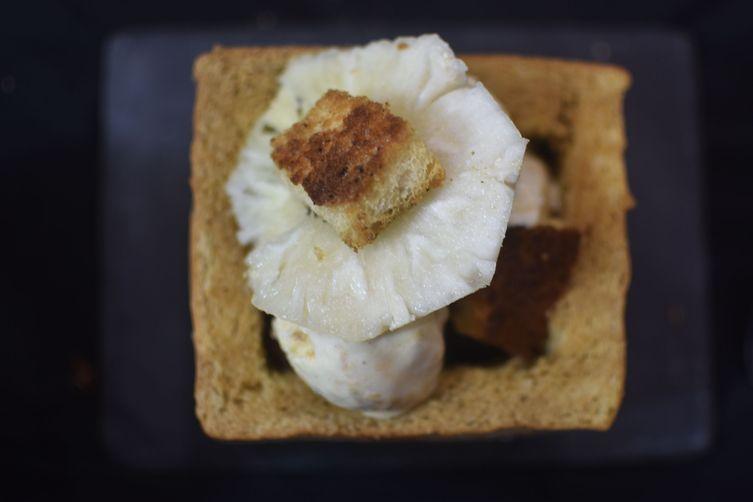 Hibiscus Pineapple Popcorn Honey Brick Toast