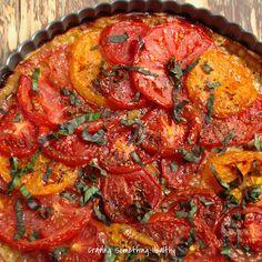 Summer Roasted Tomato Tart