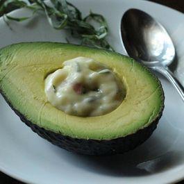 Avocado with Shallot and Tarragon Mayonnaise