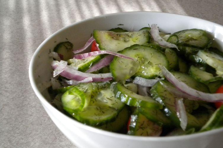 Wilted Cuke Salad