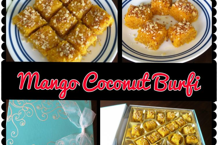 Mango Coconut Burfi (fudge)