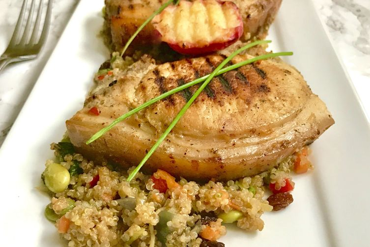 Pork with Peaches & Quinoa