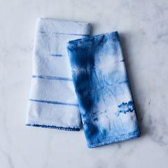 Shibori Flour Sack Tea Towels (Set of 2)