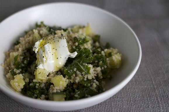 Marinated Kale + Bulgur Salad