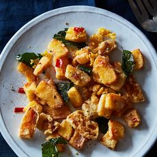 Crispy Fried Pumpkin with Salted Egg Yolk