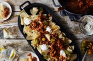 A Harissa-Spiked, (Mostly) Pantry Chili For Nachos, Dip, and More