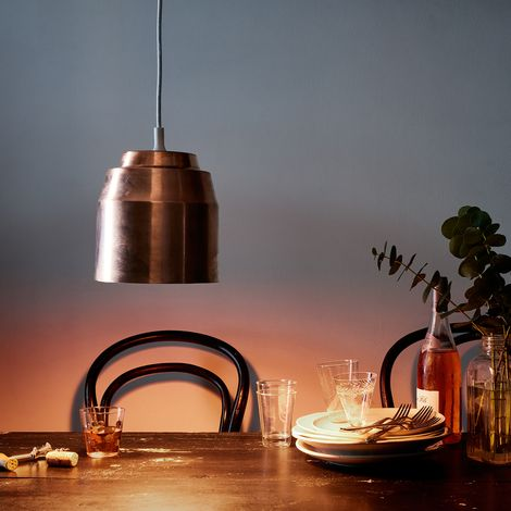 Copper Pail Light