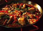 958b837f 580c 4690 9d45 4be81b9ce569  chicken sausauge and rd pepper paella
