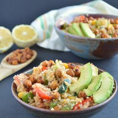 Chili Cauliflower Rice Bowl