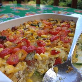 Garlic-y Summer Vegetable Casserole