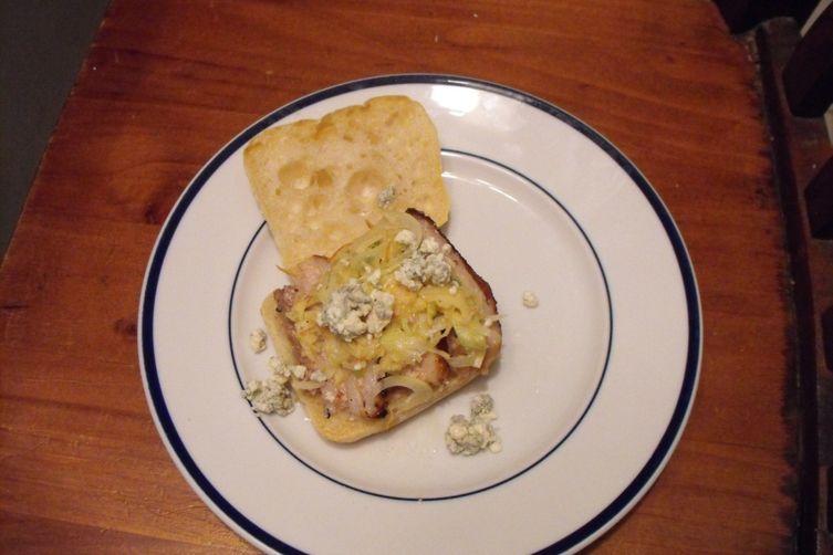 Crispy Pork Belly Sandwich with Fennel Apple Slaw