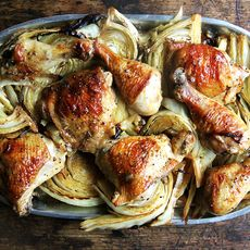 Sheet Pan Roast Chicken and Cabbage