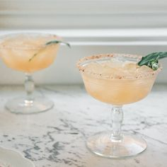 Grapefruit-Sage Margaritas