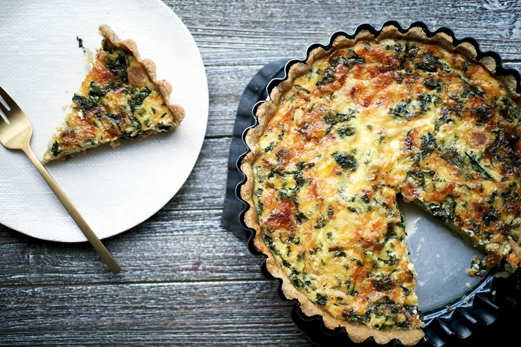Bacon, Leek, and Gruyere Quiche