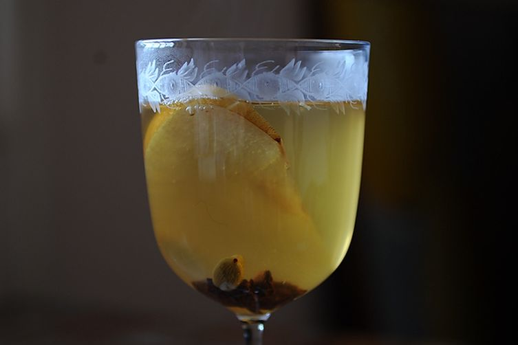 Mulled White Wine with Pear Brandy Recipe on Food52