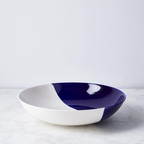 Dip Creamware Serving Bowl & Teacups
